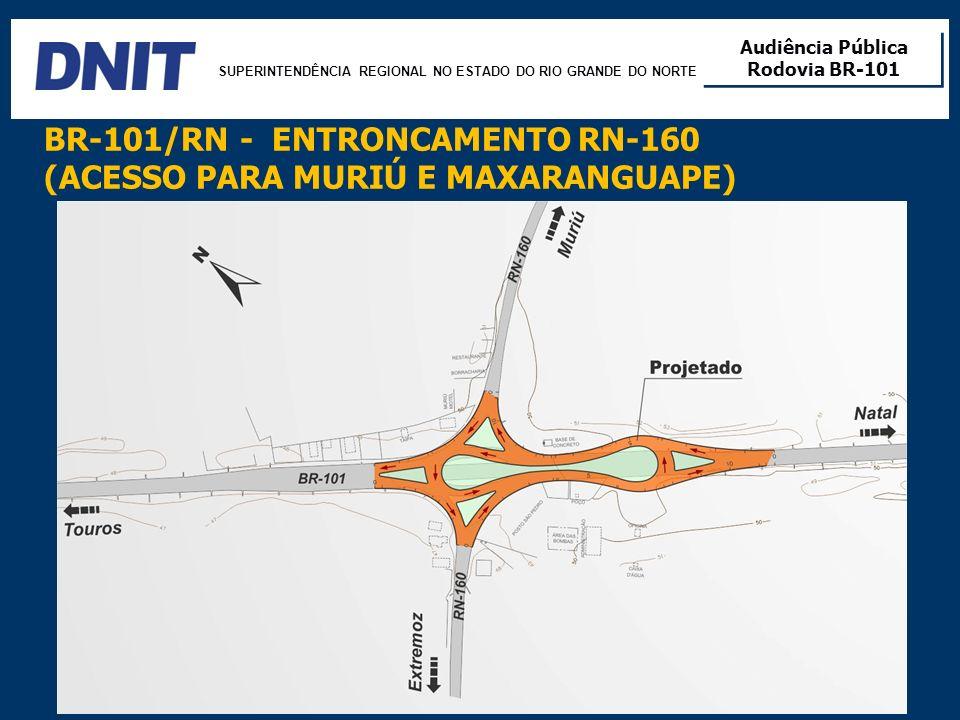 SUPERINTENDÊNCIA REGIONAL NO ESTADO DO RIO GRANDE DO NORTE Audiência Pública Rodovia BR-101 Audiência Pública Rodovia BR-101 12 BR-101/RN - ENTRONCAME