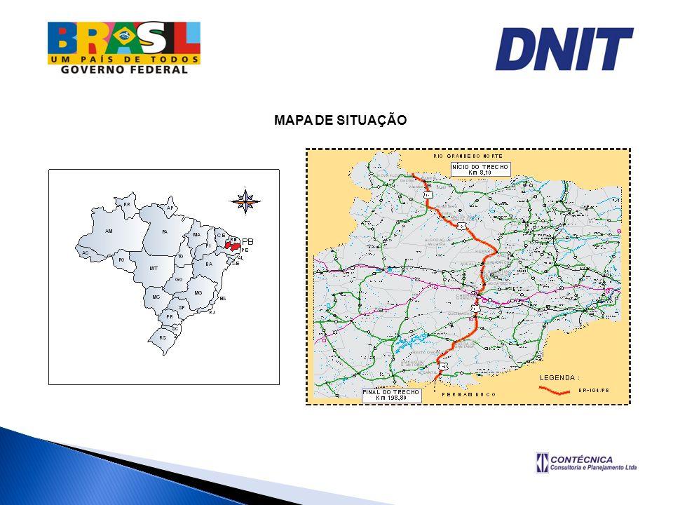 BR – 104/PB Os municípios atravessados pelo trecho possuem as seguintes populações: MunicípiosHabitantes Cuité19.950 hab.