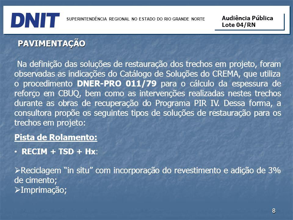 FIM 19 SUPERINTENDÊNCIA REGIONAL NO ESTADO DO RIO GRANDE NORTE Audiência Pública Lote 04/RN Audiência Pública Lote 04/RN