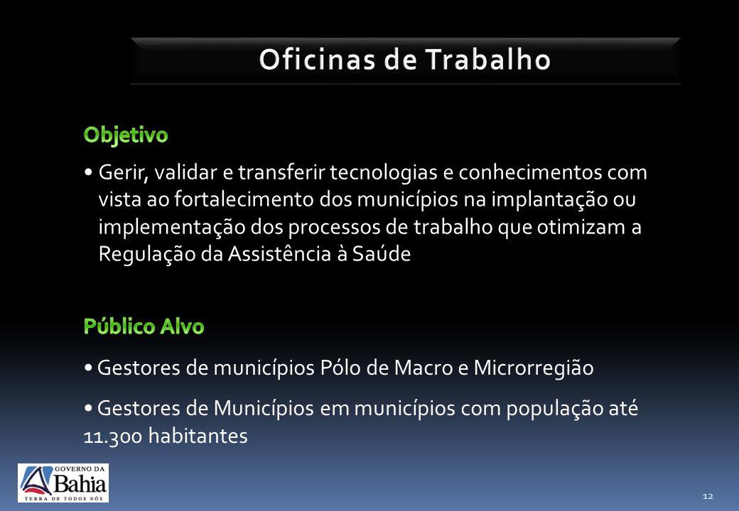 12 Gerir, validar e transferir tecnologias e conhecimentos com vista ao fortalecimento dos municípios na implantação ou implementação dos processos de
