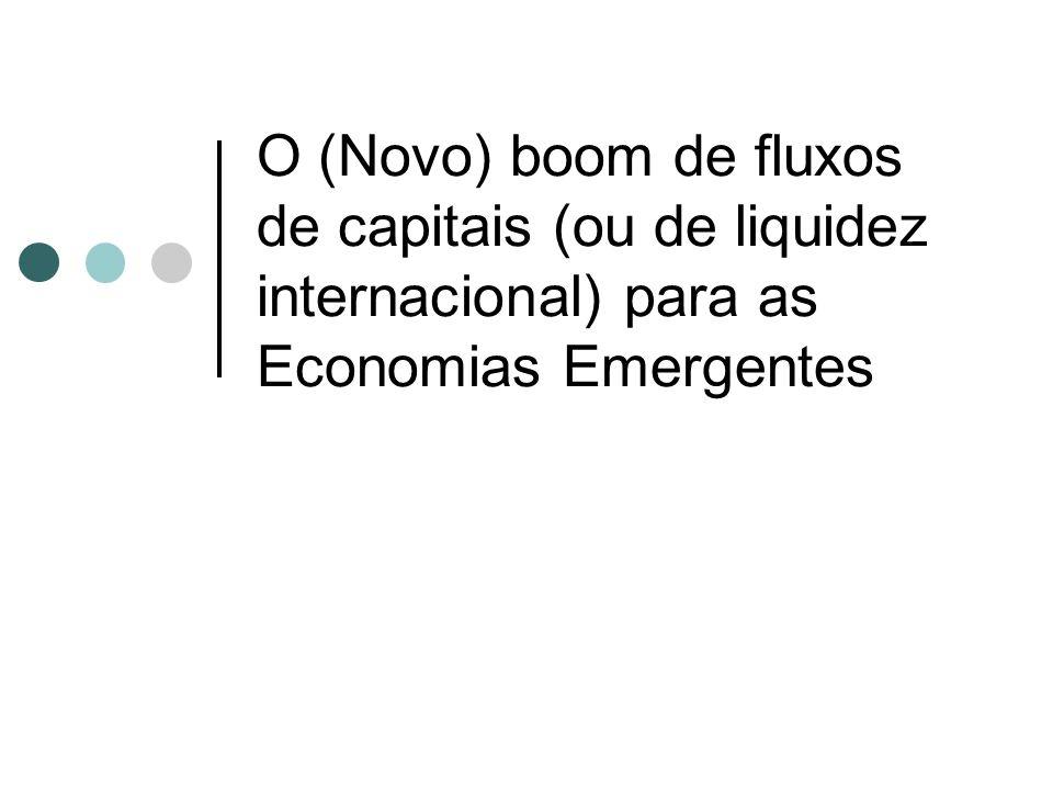 O (Novo) boom de fluxos de capitais (ou de liquidez internacional) para as Economias Emergentes