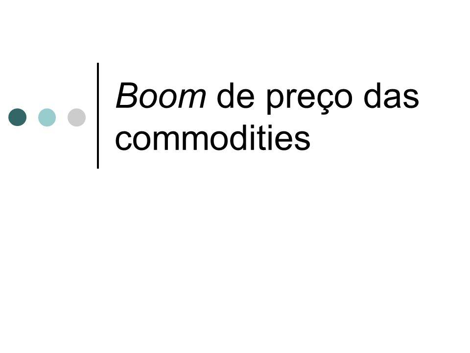 Boom de preço das commodities