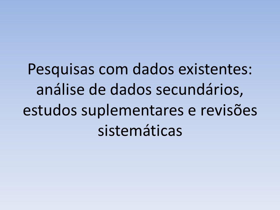 Revisões sistemáticas Questão de pesquisa Uma boa revisão deve atender os critérios FINER( factível, interessante, nova, ética e relevante).