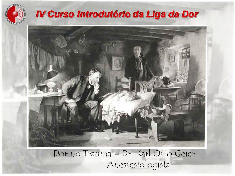 Dor no Trauma – Dr. Karl Otto Geier Anestesiologista