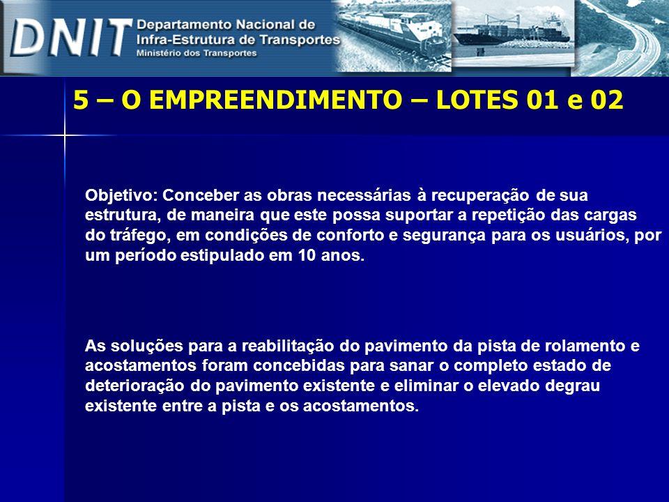 Objetivo: Conceber as obras necessárias à recuperação de sua estrutura, de maneira que este possa suportar a repetição das cargas do tráfego, em condi