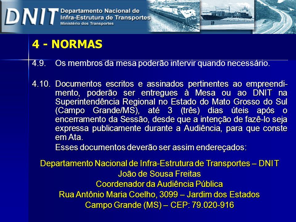 5 – O EMPREENDIMENTO – LOTES 01 e 02 TRAVESSIA DE PORTO XV - Lote 01 Campo Grande Divisa MS-SP Porto XV