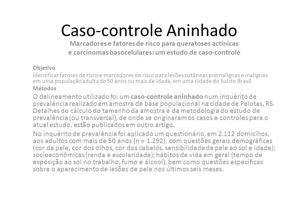 Caso-controle Aninhado Marcadores e fatores de risco para queratoses actínicas e carcinomas basocelulares: um estudo de caso-controle Objetivo identif