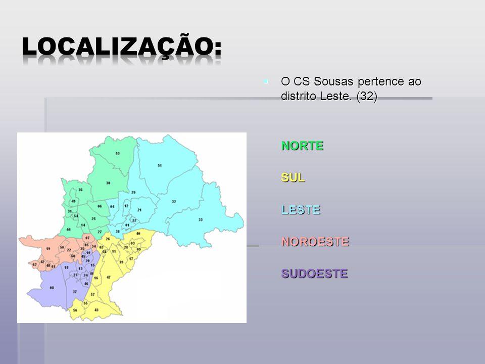 O CS Sousas pertence ao distrito Leste.(32) O CS Sousas pertence ao distrito Leste.