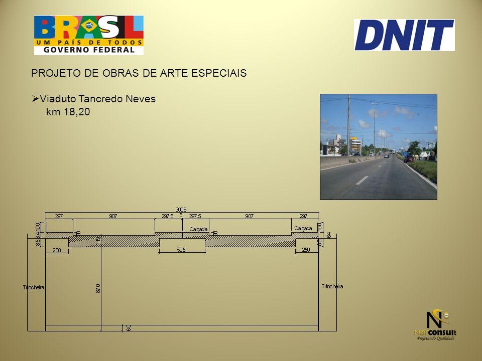 PROJETO DE OBRAS DE ARTE ESPECIAIS Viaduto Tancredo Neves km 18,20