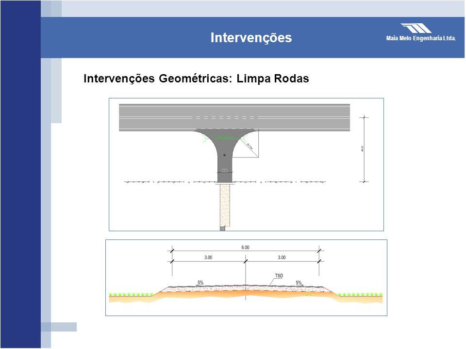 Maia Melo Engenharia Ltda. Intervenções Intervenções Geométricas: Limpa Rodas