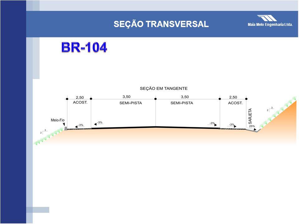 Maia Melo Engenharia Ltda. SEÇÃO TRANSVERSAL 3,0m3,5m 1,0m7,0m 1,0m3,5m 3,0m