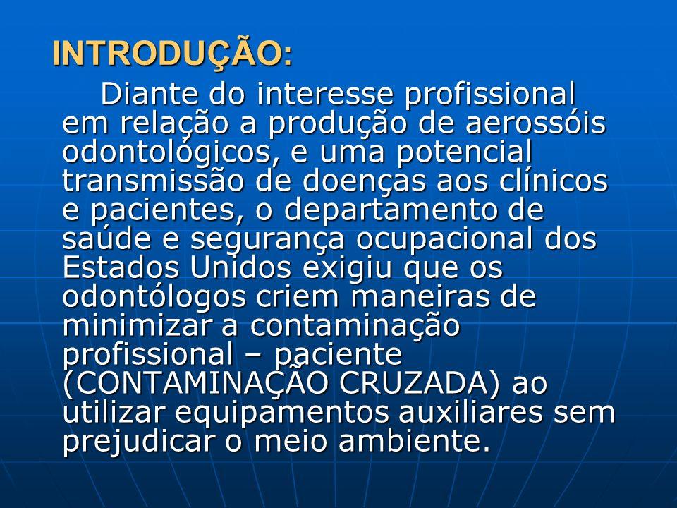 INTRODUÇÃO: Diante do interesse profissional em relação a produção de aerossóis odontológicos, e uma potencial transmissão de doenças aos clínicos e p