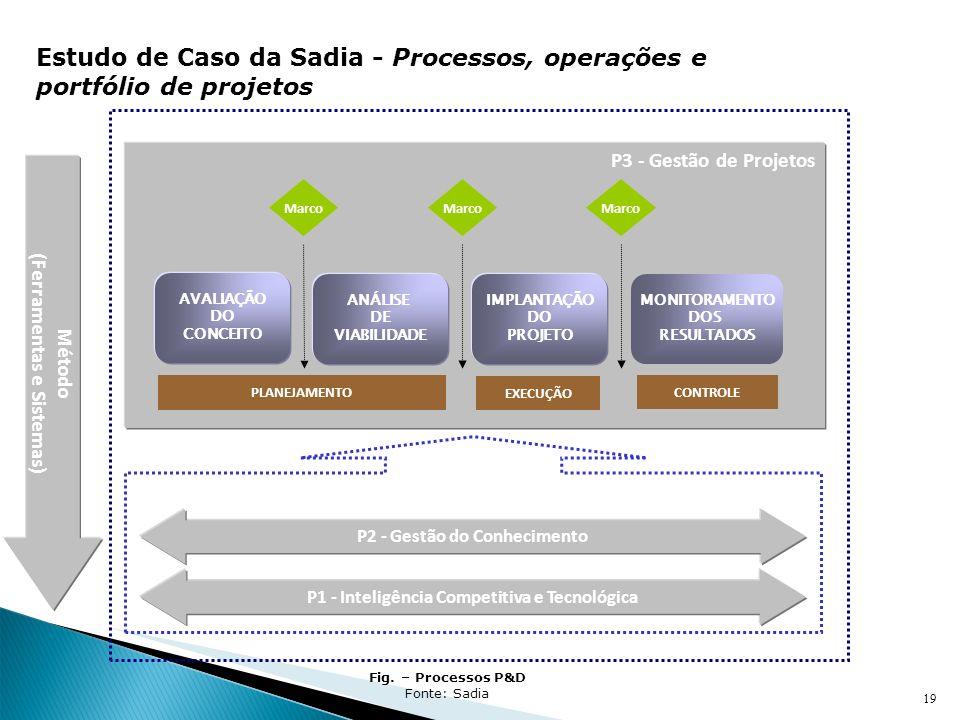 19 Sistema de Pesquisa, Desenvolvimento e Inovação Tecnológica Método (Ferramentas e Sistemas) P3 - Gestão de Projetos AVALIAÇÃO DO CONCEITO ANÁLISE D