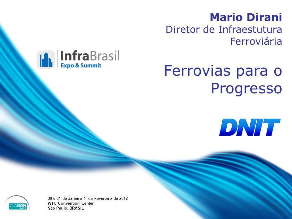 April 20 – 21, 2010, Bogota, COLOMBIA Speakers name Position Company Country Mario Dirani Diretor de Infraestutura Ferroviária Ferrovias para o Progre