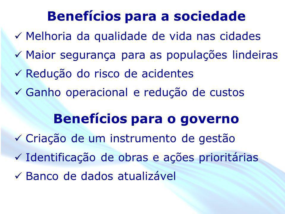 April 20 – 21, 2010, Bogota, COLOMBIA Benefícios para a sociedade Melhoria da qualidade de vida nas cidades Maior segurança para as populações lindeir