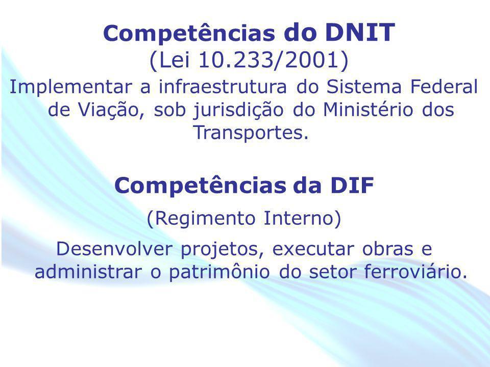 April 20 – 21, 2010, Bogota, COLOMBIA Implementar a infraestrutura do Sistema Federal de Viação, sob jurisdição do Ministério dos Transportes. Competê