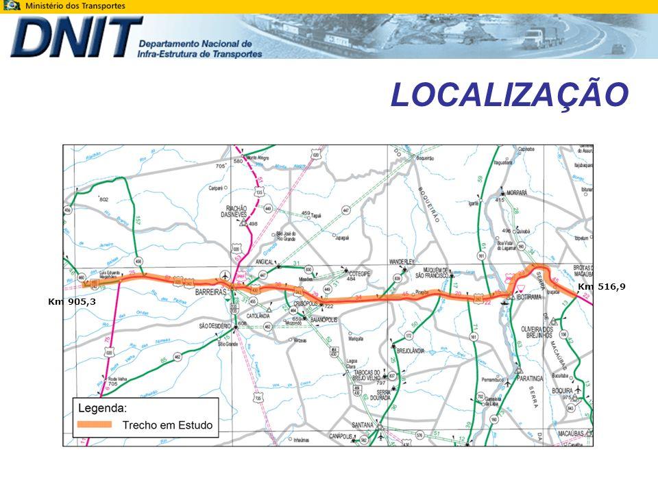 LOCALIZAÇÃO Km 516,9 Km 905,3