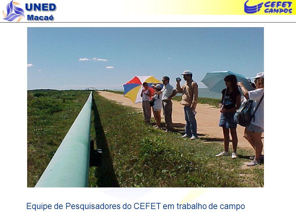 UNED Macaé Equipe de Pesquisadores do CEFET em trabalho de campo