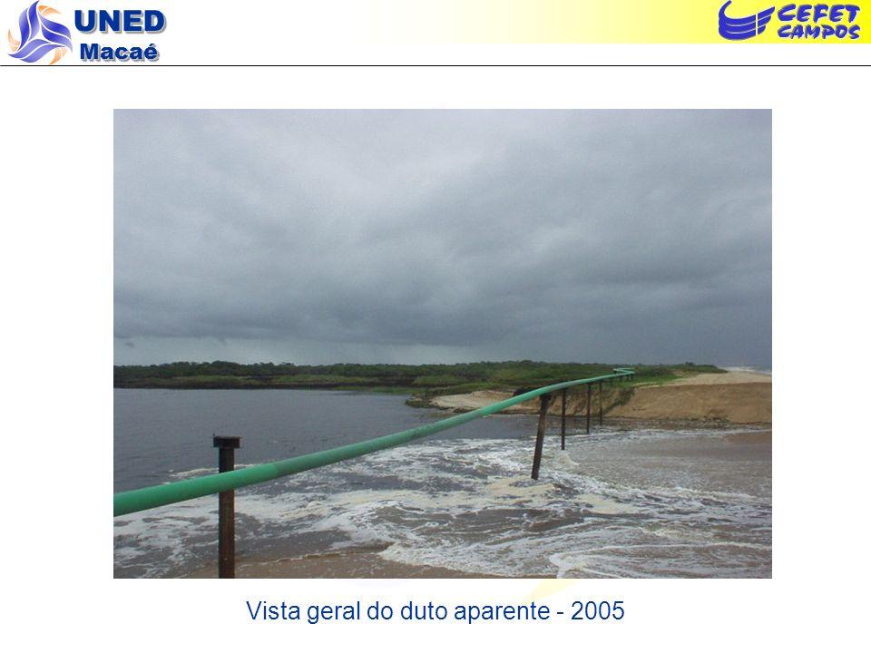 UNED Macaé Vista geral do duto aparente - 2005