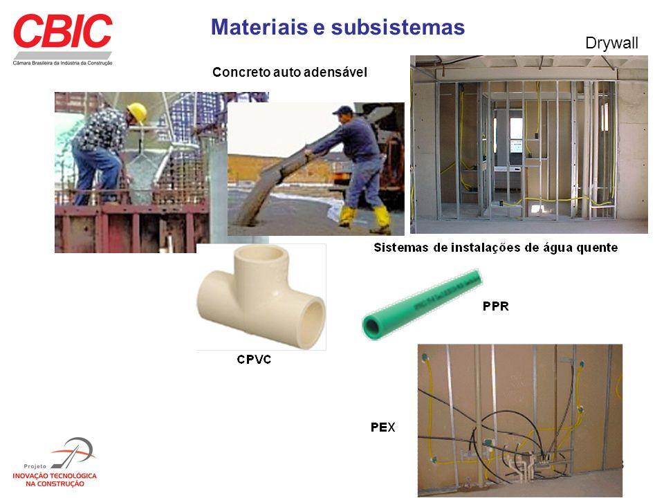 18 Materiais e subsistemas Concreto auto adensável Drywall