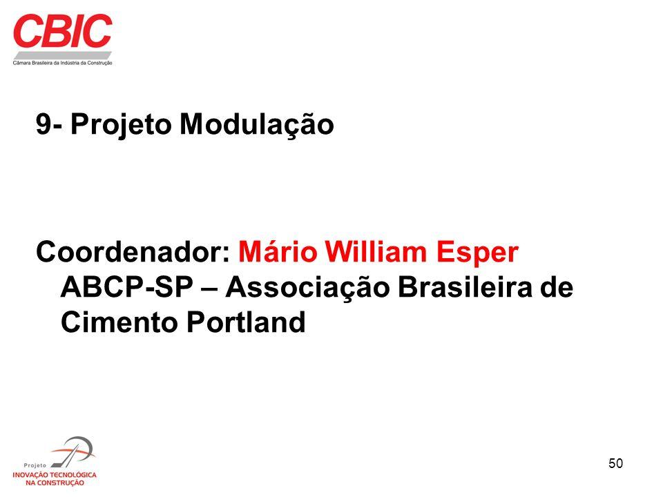 50 9- Projeto Modulação Coordenador: Mário William Esper ABCP-SP – Associação Brasileira de Cimento Portland