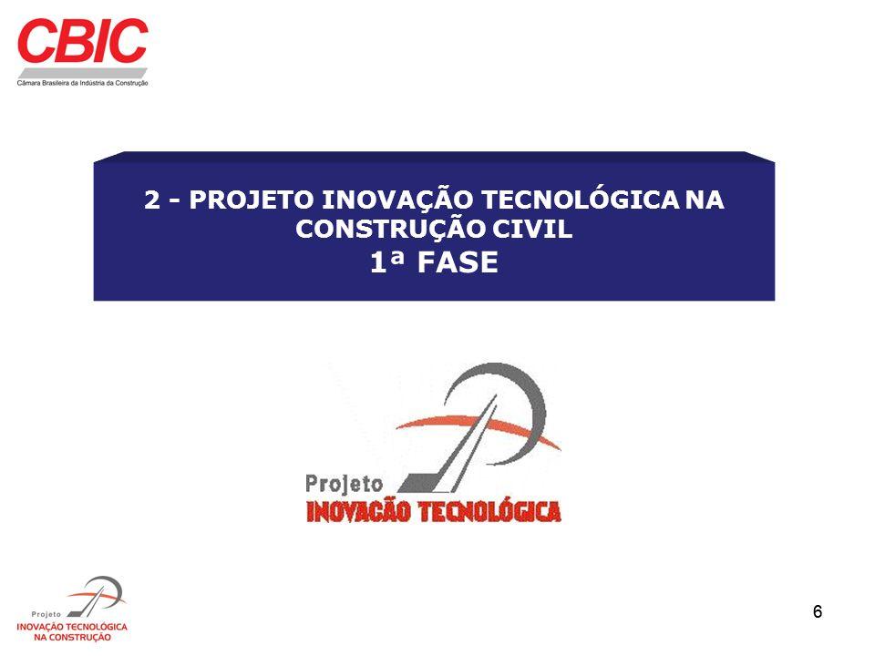 57 LISTA DAS ETAPAS DE OBRA 1 - PROJETOS 1.1 - Projetos de todas as características Relação de máquinas e equipamentos para modernização do processo 2 - FUNDAÇÃO 2.1 - Tubulão a céu aberto - fuste mecânico 2.2 - Tubulão a céu aberto - fuste e base manuais 2.3 - Sapata tradicional 2.4 - Hélice contínua 2.5 - Estacas raiz 2.6 - Estaca pré moldada de concreto 2.7 - Estaca metálica Relação de máquinas e equipamentos para modernização do processo