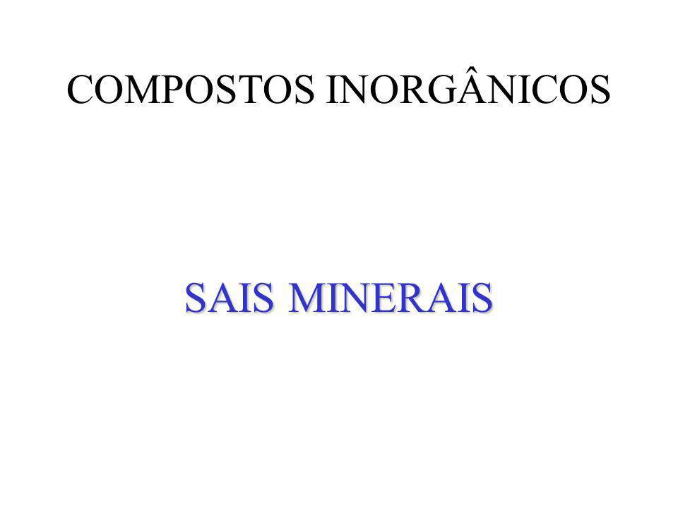 COMPOSTOS INORGÂNICOS SAIS MINERAIS