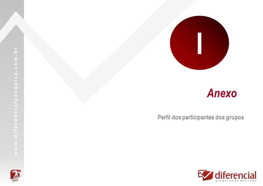 Anexo Perfil dos participantes dos grupos I