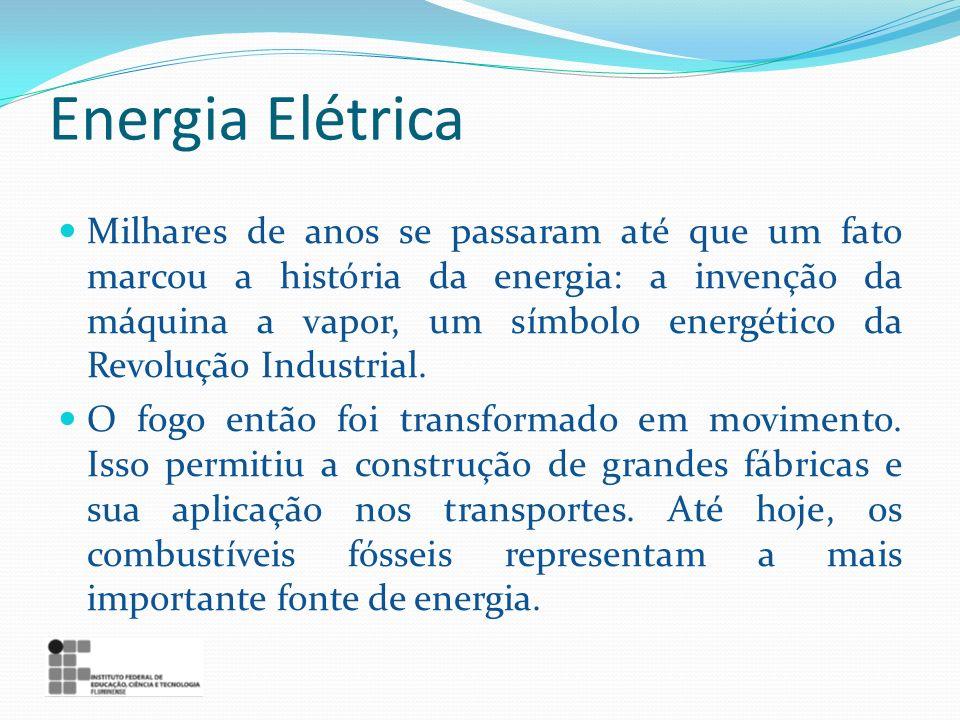 Energia Elétrica Milhares de anos se passaram até que um fato marcou a história da energia: a invenção da máquina a vapor, um símbolo energético da Re