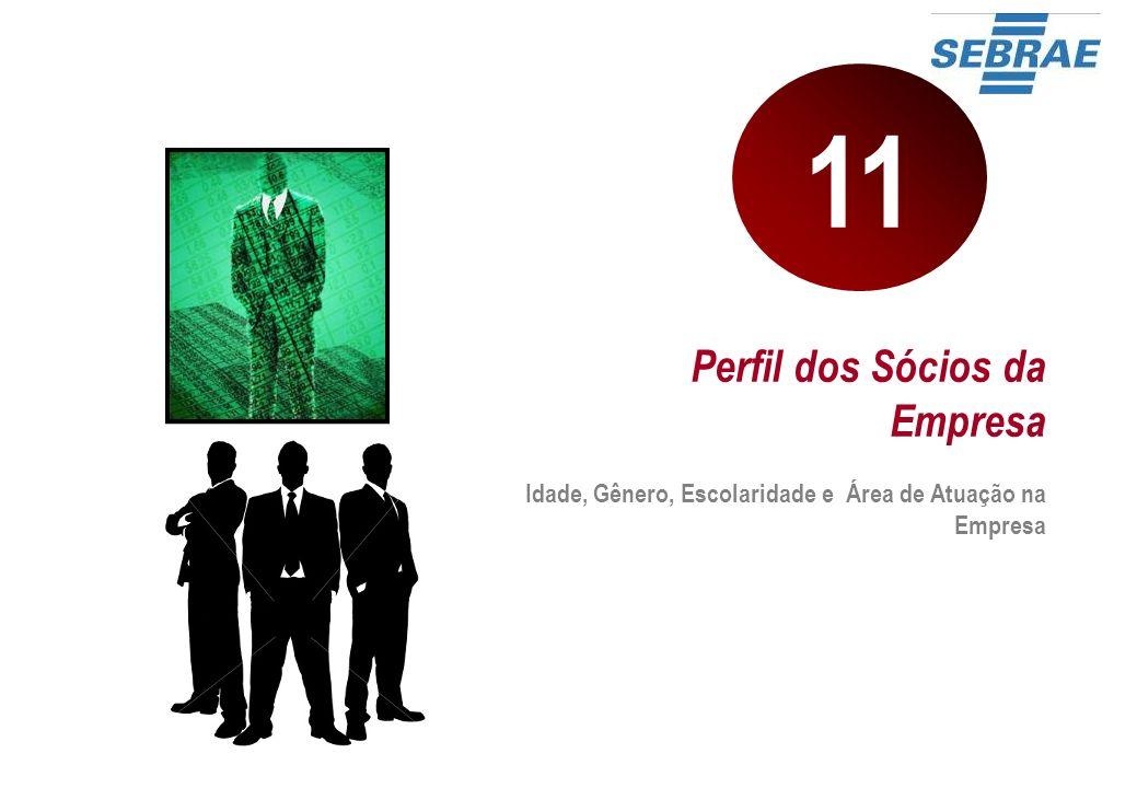 Perfil dos Sócios da Empresa Idade, Gênero, Escolaridade e Área de Atuação na Empresa 11