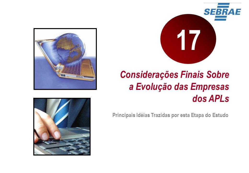 Considerações Finais Sobre a Evolução das Empresas dos APLs Principais Idéias Trazidas por esta Etapa do Estudo 17