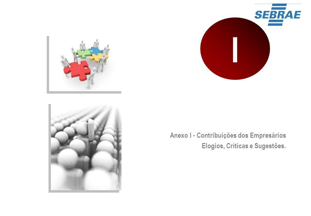 Anexo I - Contribuições dos Empresários Elogios, Críticas e Sugestões. I