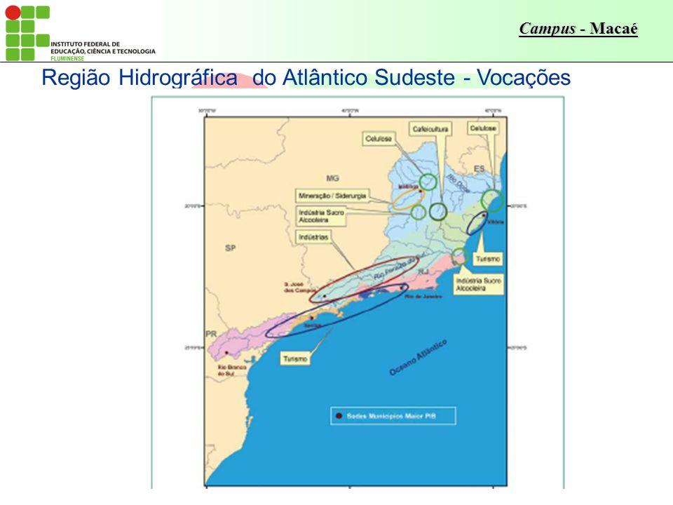 Campus - Macaé Região Hidrográfica do Atlântico Sudeste - Vocações