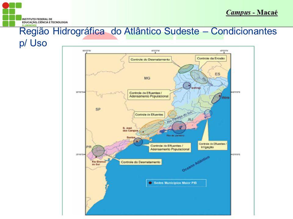 Campus - Macaé Região Hidrográfica do Atlântico Sudeste – Condicionantes p/ Uso