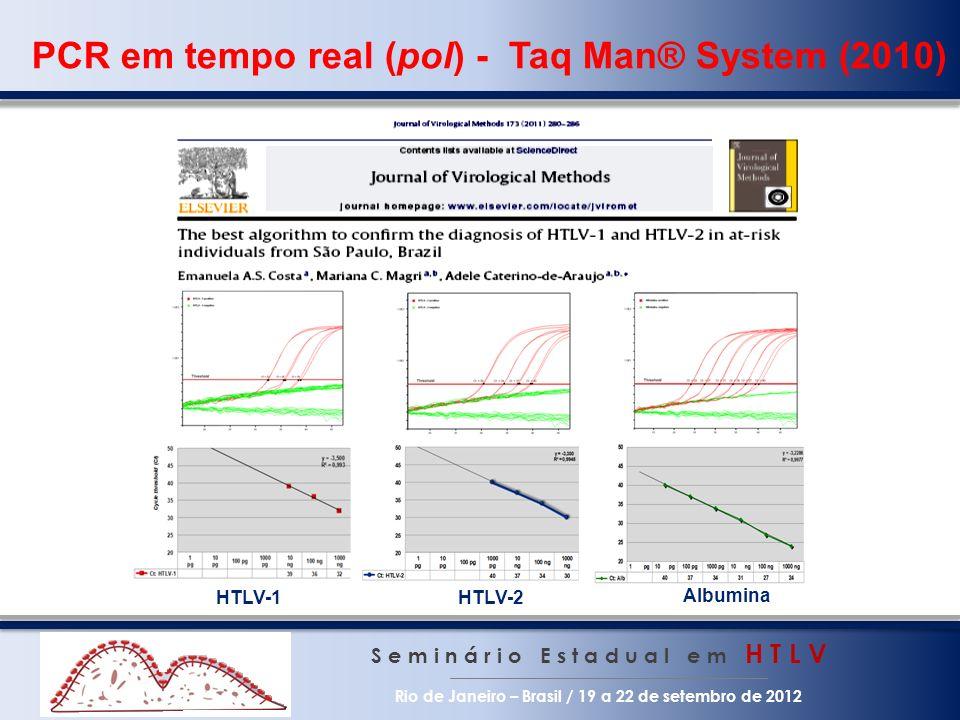 PCR em tempo real (pol) - Taq Man® System (2010) S e m i n á r i o E s t a d u a l e m H T L V Rio de Janeiro – Brasil / 19 a 22 de setembro de 2012 H