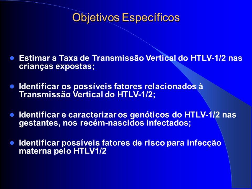 Co-morbidades 3,3% (5/153) HIV (p<0.000002; IC=95%) 5,2% (8/153) Treponema pallidum 2,6% (4/153) HPV 1,9% (3/153) toxoplasmose 1,3% (2/153) Doença de Chagas 0,7% (1/153) Hepatite C 0,7% (1/153) anti-Hbc 17,0% (26/153)