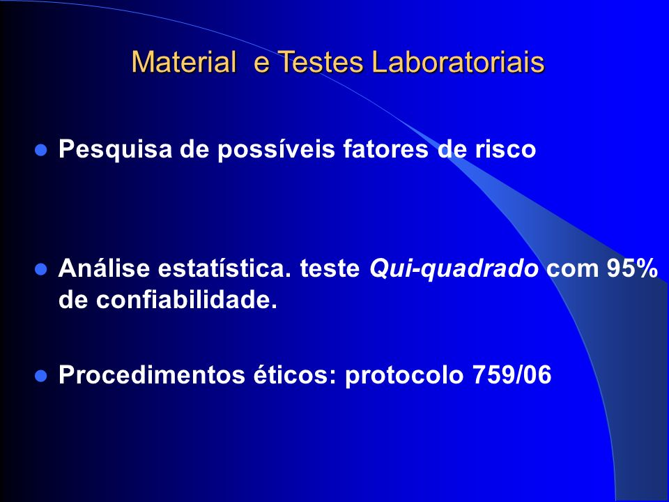 Resultados 153 gestantes HTLV 1-2 Positivas 13,1/10.000 (0,13%) 86,9%( 133/153) HTLV-1 0,7%(1/153) HTLV 1 e 2 1,3% (2/153) não identificados 11,1 %(17/153) HTLV-2 1,3%(2/153) ELISA positivo, WB indeterminado PCR positivo 1,9%(3/153) ELISA indeterminado WB e PCR positivos.