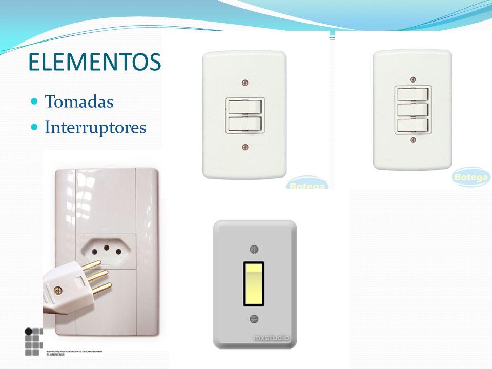 ELEMENTOS Tomadas Interruptores