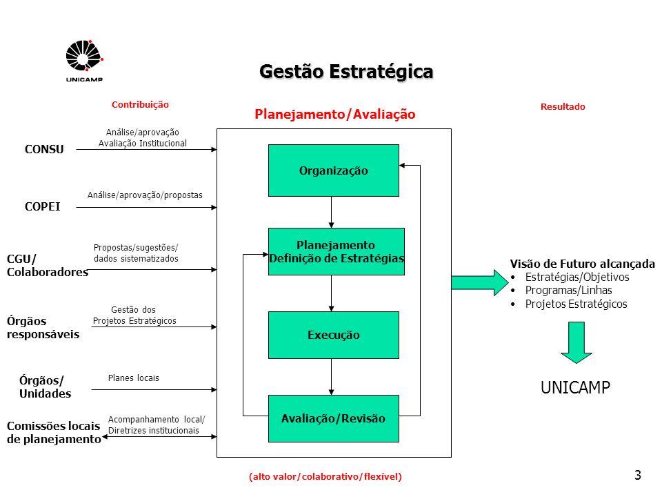 24 Execução e acompanhamento do Planes/Unicamp Revisão anual dos Projetos Estratégicos na COPEI Prestação de contas dos responsáveis pelos projetos e solicitações para o próximo período Distribuição dos recursos R$ 1.000.000,00 em 2005 (orçamentário - contingenciado) R$ 1.300.000,00 em 2006 (extra-orçamentário) R$ 1.500.000,00 em 2007 (extra-orçamentário) R$ 1.525.000,00 em 2008 (orçamentário) R$ 2.363.000,00 em 2009 (orçamentário) R$ 3.600.000,00 em 2010 (orçamentário) R$ 2.500.000,00 em 2011 (orçamentário) R$ 2.500.000,00 em 2012 (orçamentário) Possibilidade de sempre rever a lista de Projetos (cancelar ou adicionar novos projetos) Mais detalhes em: http://www.cgu.unicamp.br/planes/index.htmlhttp://www.cgu.unicamp.br/planes/index.html Mas.....