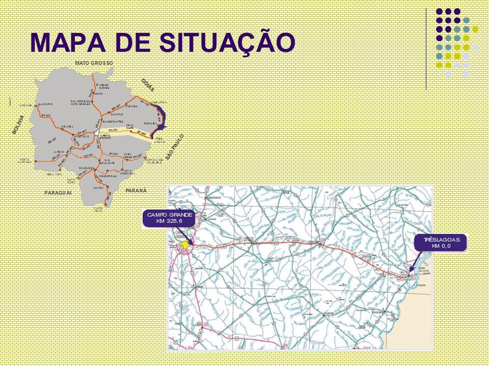 MELHORAMENTOS Travessias Urbanas TRAVESSIA URBANA DE ÁGUA CLARA Melhorias no pavimento e no sistema de drenagem com implantação e limpeza de bueiros TRAVESSIA URBANA DE RIBAS DO RIO PARDO Duplicação da via com implantação de canteiros centrais e vias laterais (2 km)