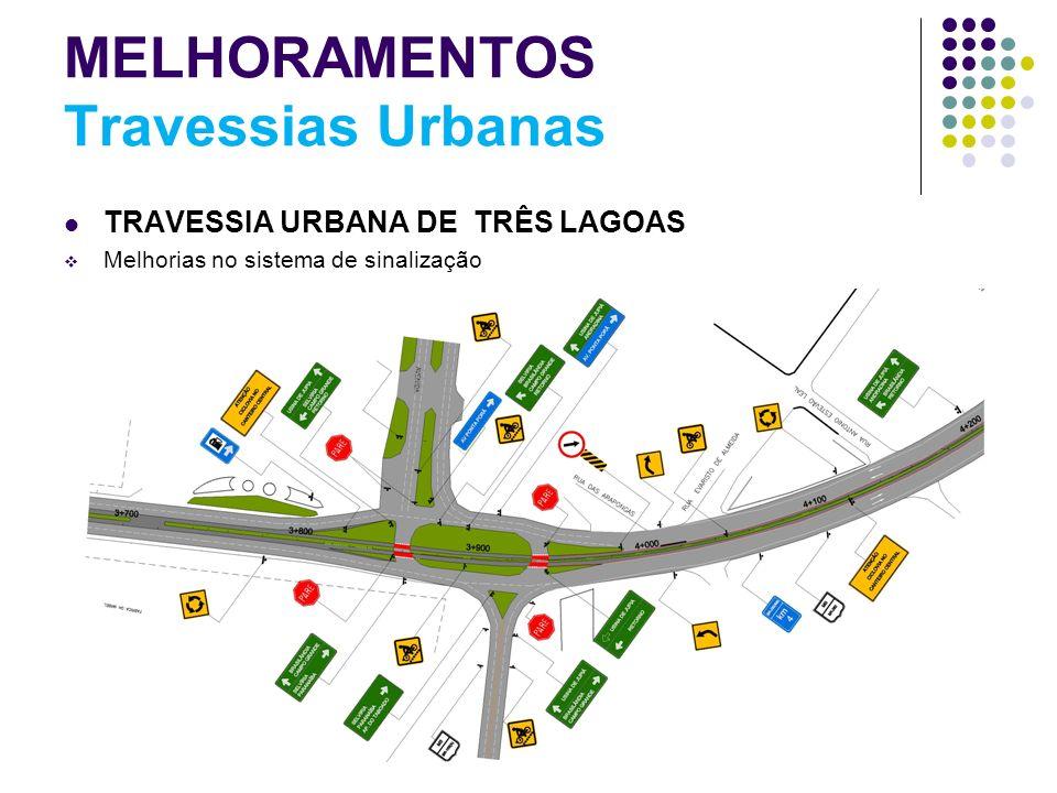 MELHORAMENTOS Travessias Urbanas TRAVESSIA URBANA DE TRÊS LAGOAS Melhorias no sistema de sinalização