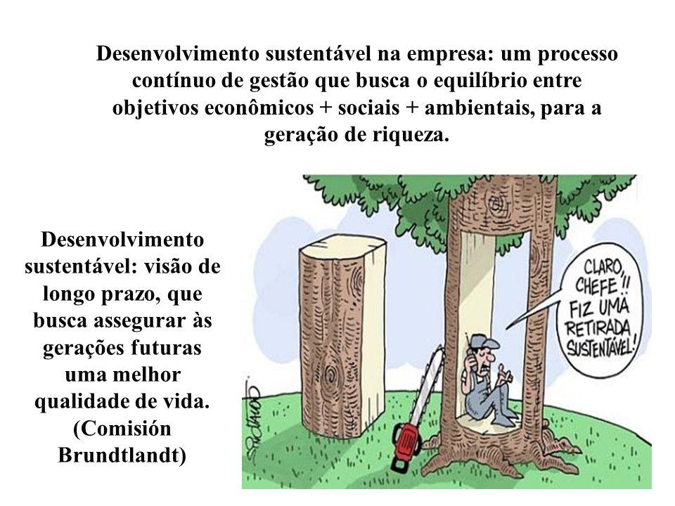Responsabilidade Social Corporativa e Desenvolvimento sustentável O conceito de responsabilidade social corporativa pressupõe que a organização não se
