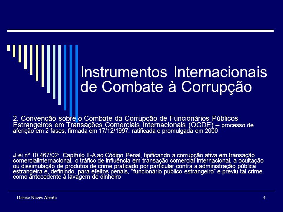 Instrumentos Internacionais de Combate à Corrupção 3.
