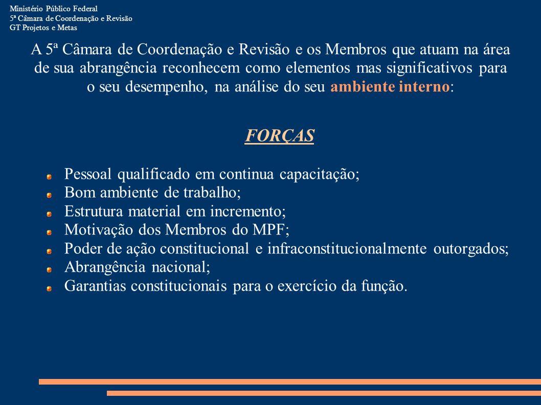 Ministério Público Federal 5ª Câmara de Coordenação e Revisão GT Projetos e Metas A 5ª Câmara de Coordenação e Revisão e os Membros que atuam na área