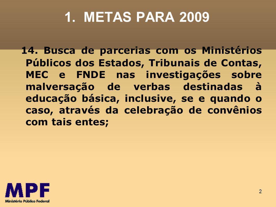 23 3.PROPOSTAS DE ATUAÇÃO (METAS) 3.3.