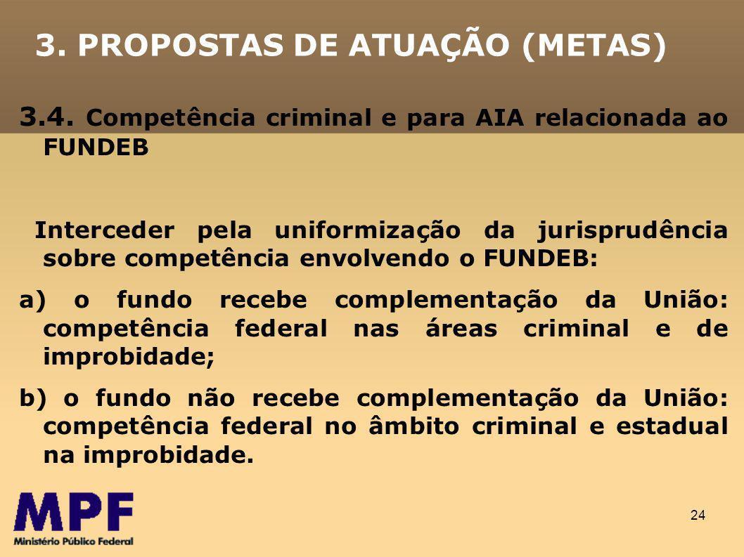 24 3.PROPOSTAS DE ATUAÇÃO (METAS) 3.4.