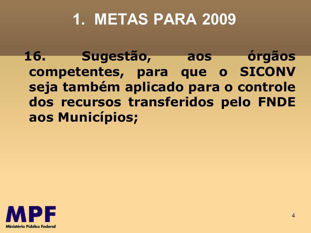 4 1.METAS PARA 2009 16.
