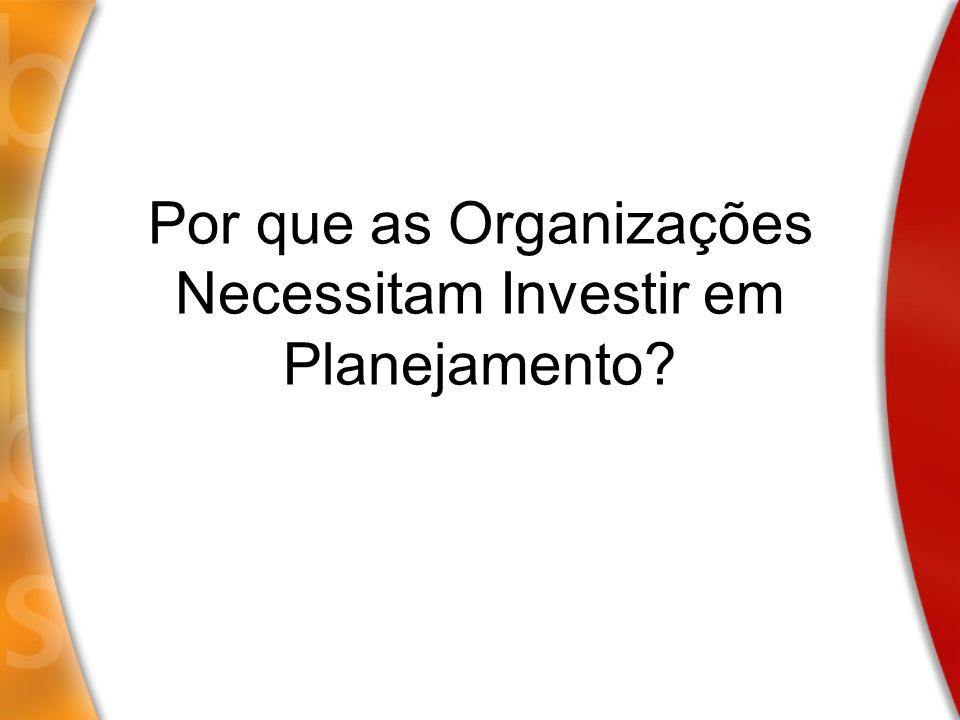 Por que as Organizações Necessitam Investir em Planejamento?