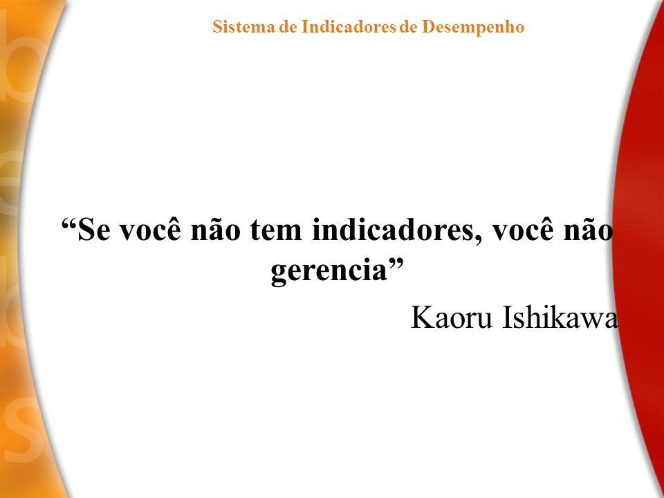 Se você não tem indicadores, você não gerencia Kaoru Ishikawa Sistema de Indicadores de Desempenho