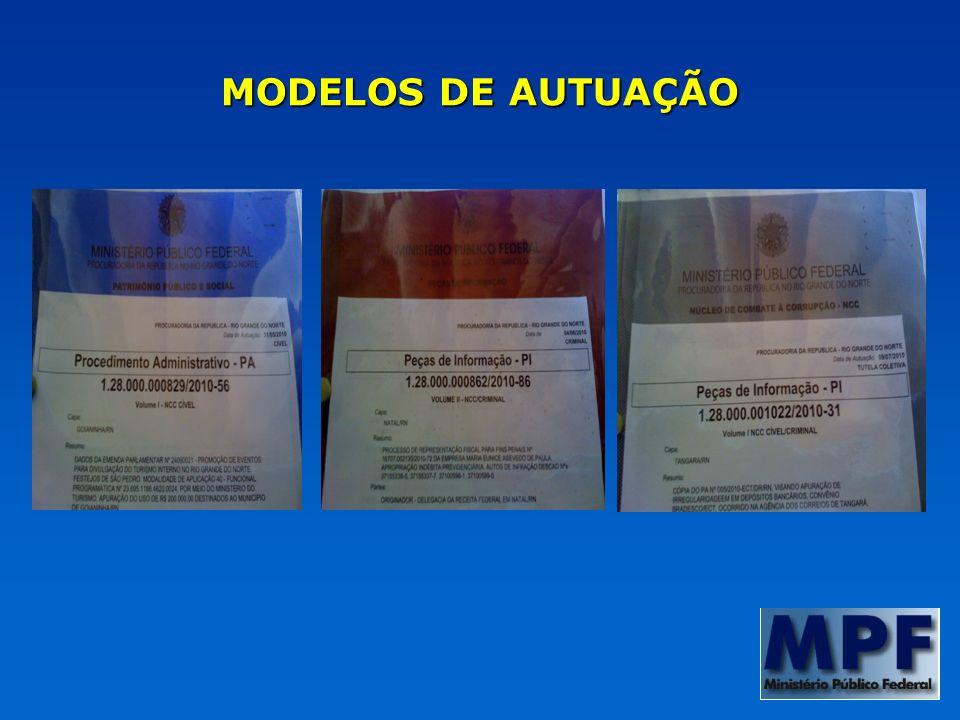 MODELOS DE AUTUAÇÃO